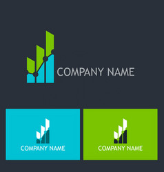 Chart progress success company logo vector