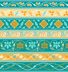 Decorative persian borders vector image