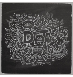 Diet hand lettering on chalkboard vector
