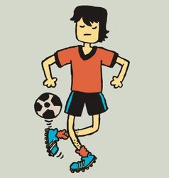 Football freak vector