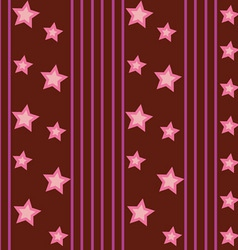 Funky Stars Pattern vector image vector image