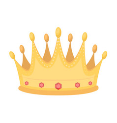 Golden crown with diamonds the winner of the vector