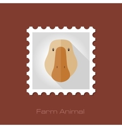 Goose flat stamp Animal head vector image