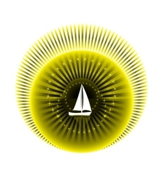 Logo yacht club in yellow and black colors vector