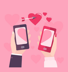 mobile valentine day vector image