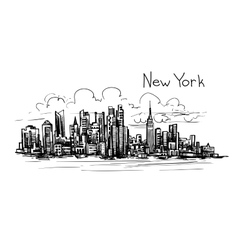 new york sketch vector image vector image