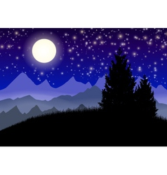 Night mountains vector image vector image