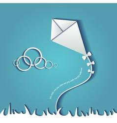 Paper kite vector