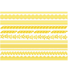 pasta pattern brushes vector image vector image