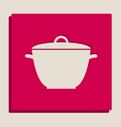 Saucepan simple sign grayscale version of vector