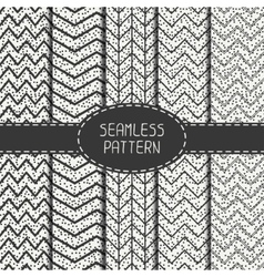 Set of geometric abstract chevron zigzag stripes vector image