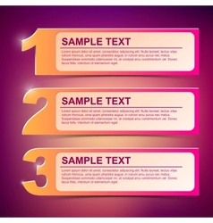 Text frame 1-2-3 vector