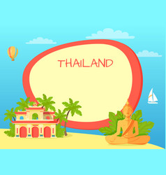 Thailand touristic concept with copyspace vector