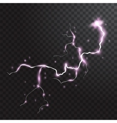 Thunderstorm realistic elements with colored vector