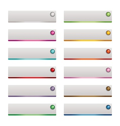 web buttons vector image vector image