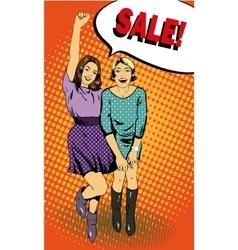 Women with Sale speech bubble vector image