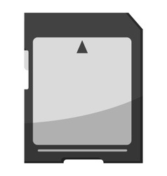 Memory card icon gray monochrome style vector