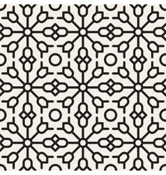 Seamless Black and White Geometric Ethnic vector image