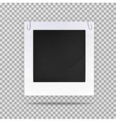 Blank picture or square frame for portrait vector