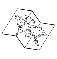 Paper map icon image vector