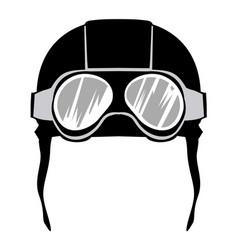 Aviation helmet vector