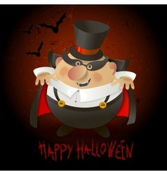 Cute count dracula halloween design background vector