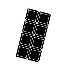 black icon chocolate bar cartoon vector image