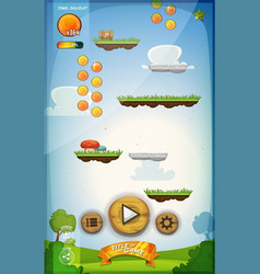 Jump game user interface design for tablet vector
