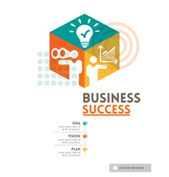 Cubic business success concept design layout vector