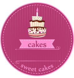 birthday cakes card vector image