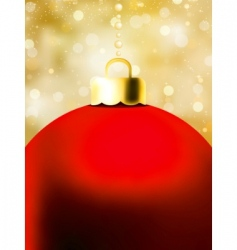 Christmas ball card template vector image