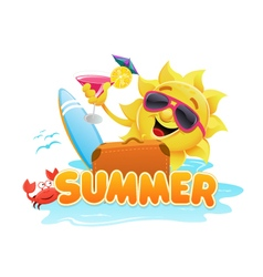Summer theme 2 vector