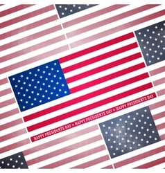 Presidents day background abstract dotted poster vector image