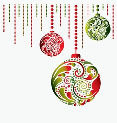 Christmas toy card vector image