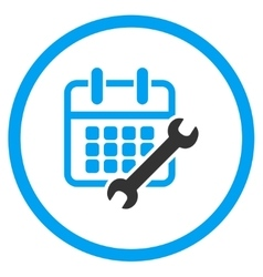 Calendar configure rounded icon vector