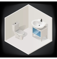 Toilet room interior isometric vector