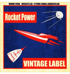 Retro rockets vector