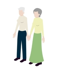 Old lesbian isometric couple vector