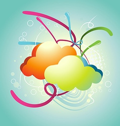 Abstract Cloud vector image vector image