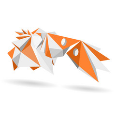 abstract geometric model 3d shape vector image vector image