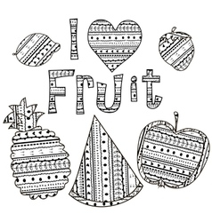 Adult coloring page stickers and embroidery vector