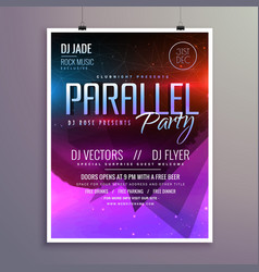 Amazing modern music party flyer brochure template vector