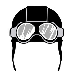 aviation helmet vector image