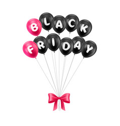 balloons bunch with black friday letters vector image