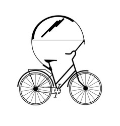 Bicycle tandem trolley trailer tent accessories vector