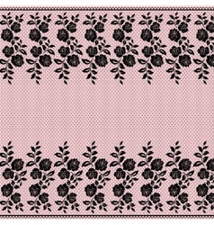 Black lace border vector