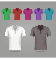Black white and color male t-shirts design vector image