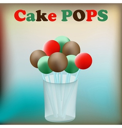 cake pops vector image vector image