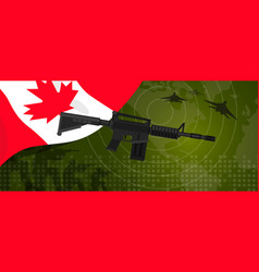 Canada military power army defense industry war vector