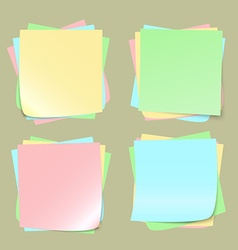 Color note papers on background vector image